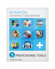 AVS Video Editor 8 (pakiet 5 aplikacji do edycji wideo i dźwięku)