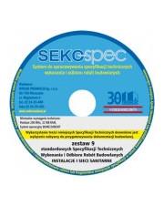 SEKO-SPEC Specyfikacje techniczne instalacji sanitarnych - Zest. 1 - 9 / CD