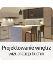 Projektowanie wnętrz - wizualizacja kuchni