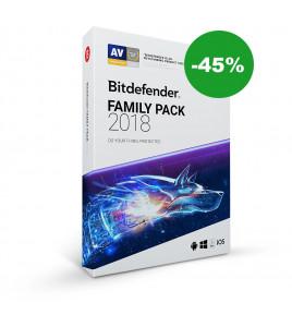 Obniżamy cenę za pakiet Bitdefender Family Pack 2018 o 45%