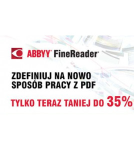 Tylko teraz ABBYY FineReader 14 taniej do 35%